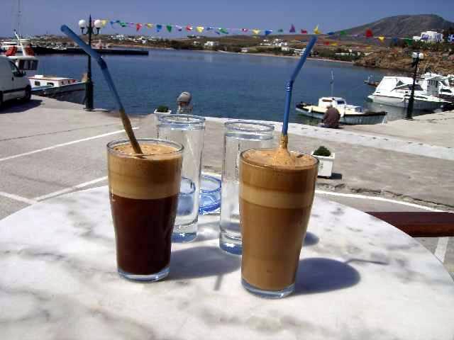 Греческий кофе, холодный кофе по-гречески