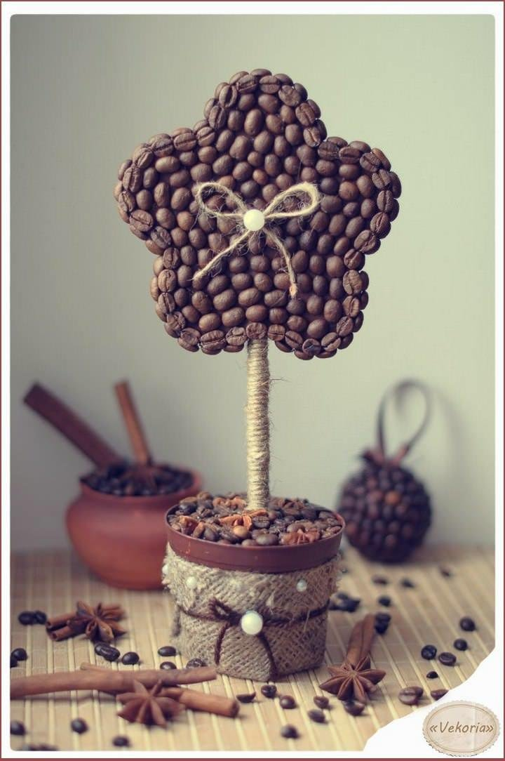 Мастер класс по созданию кофейного дерева пошагово