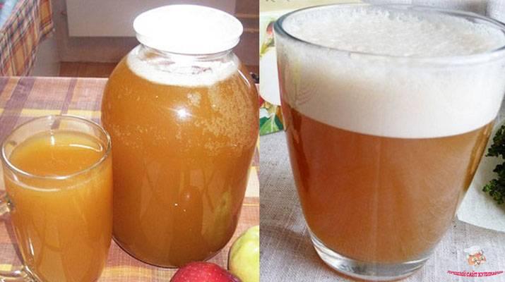 Яблочный квас в домашних условиях, простые рецепты из яблок