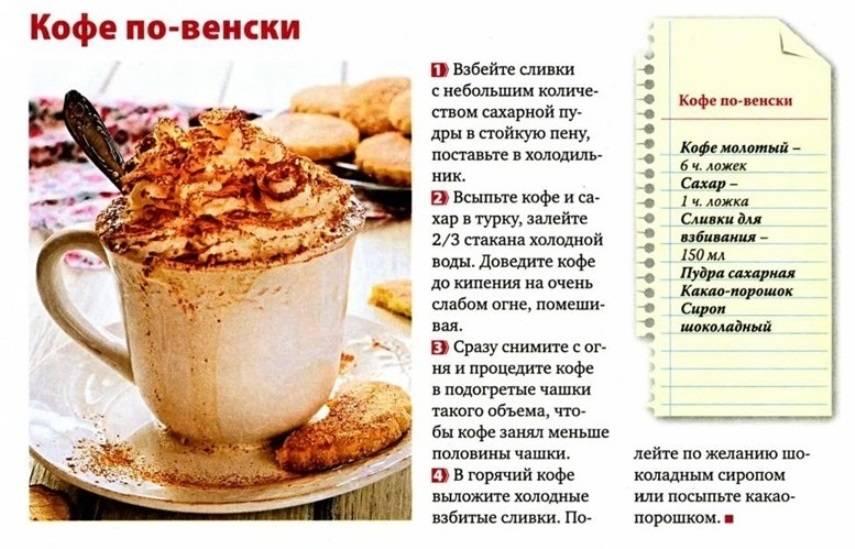 Венский кофе: рецепт