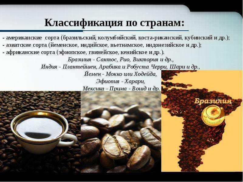 Классификация кофе