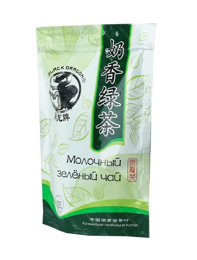 Чай зеленый  черный дракон молочный улун