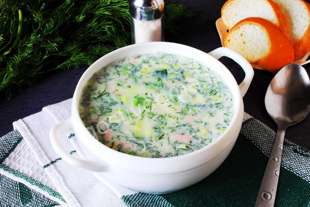 Традиционная окрошка с колбасой – классический пошаговый рецепт + 5 вкусных вариантов приготовления холодного супа