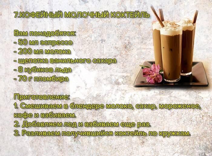 Топ-6 коктейлей с кофе и водкой