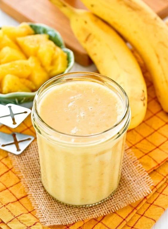 Смузи клубника банан