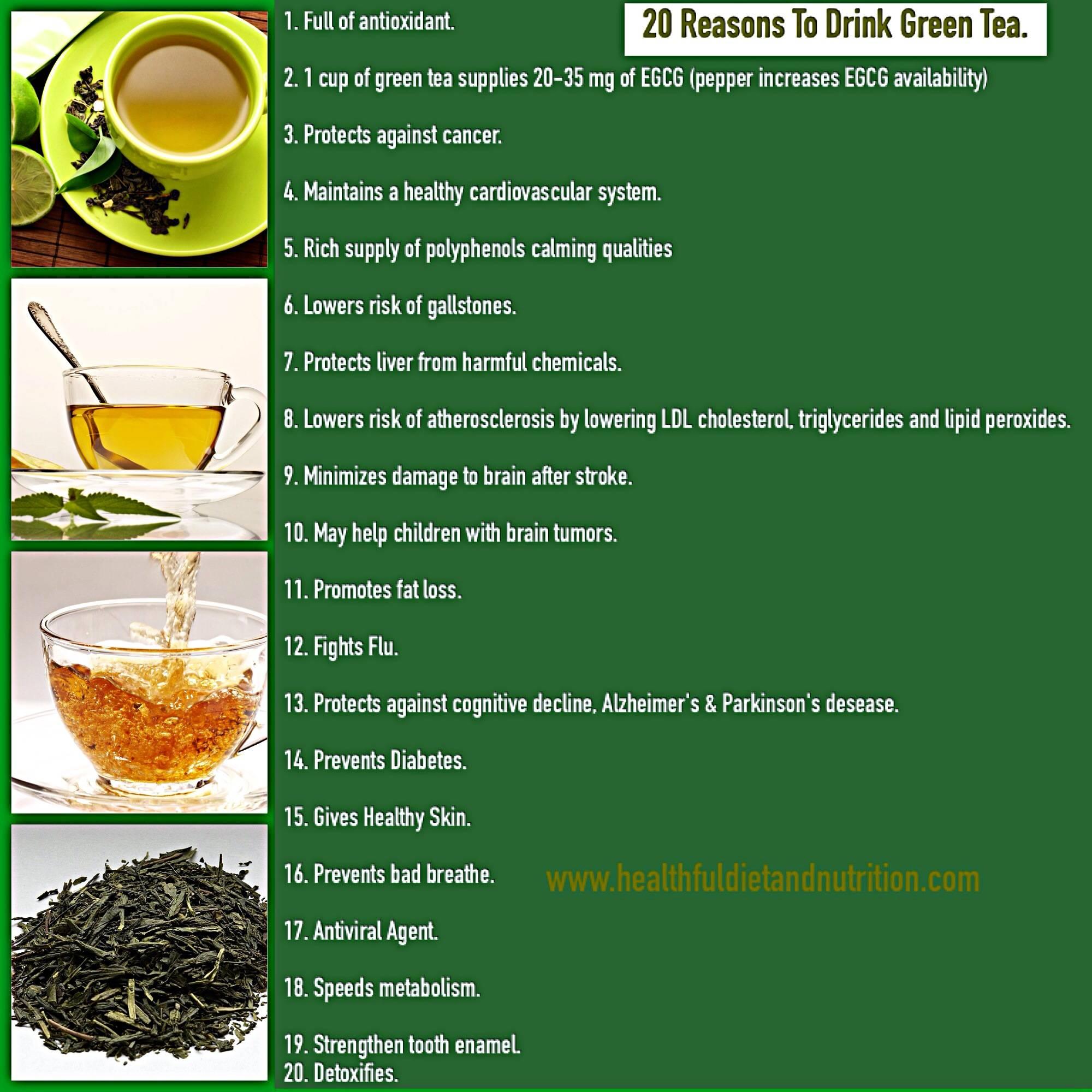 Диета на зеленом чае на неделю | здоровое питание