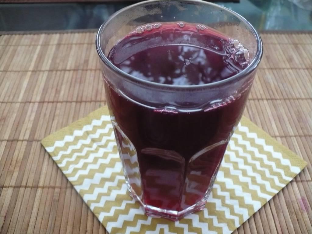 Кисель из замороженных ягод малины и черной смородины