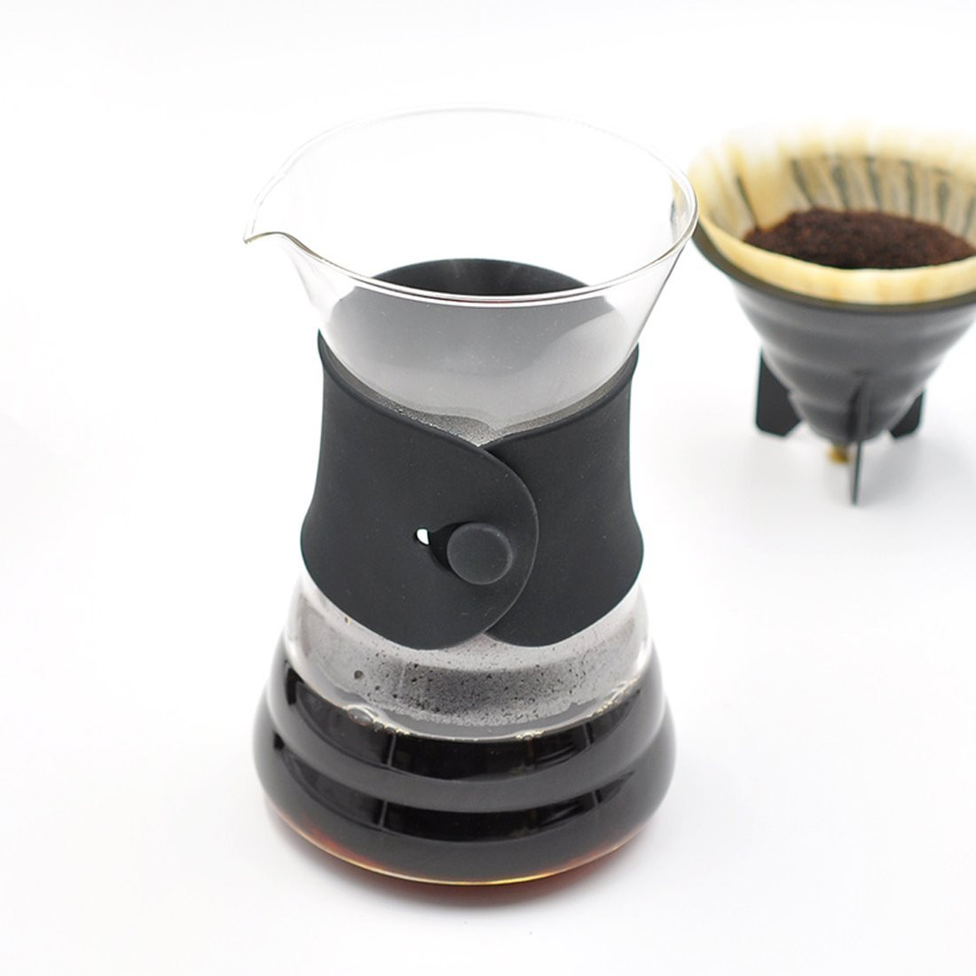 Керамическая воронка-дриппер для заваривания кофе пуровер 61223000900005, 350 мл, оранжевый (flame), серия чайники и все для чая, le creuset
