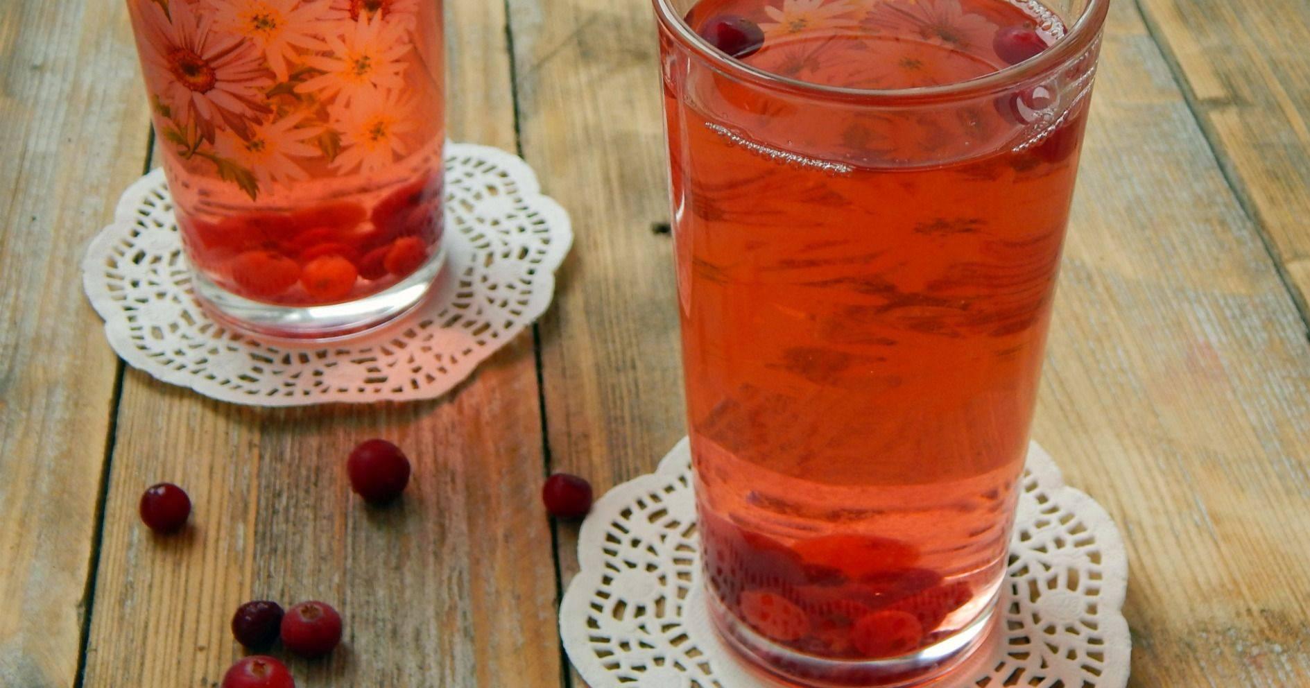Компот из черники и клюквы - вкусные рецепты от receptpizza.ru