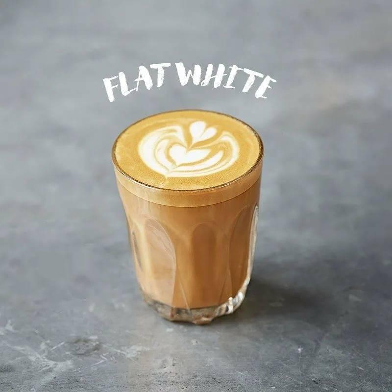 Флэт уайт (flat white или плоский белый)