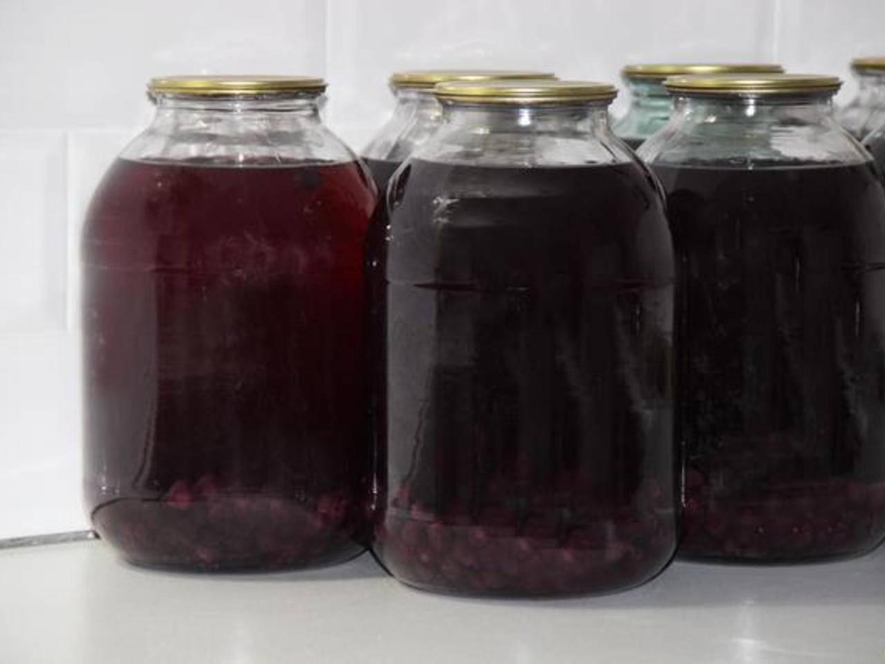 Компот из винограда на зиму на 3 литровую банку: рецепт с фото пошагово