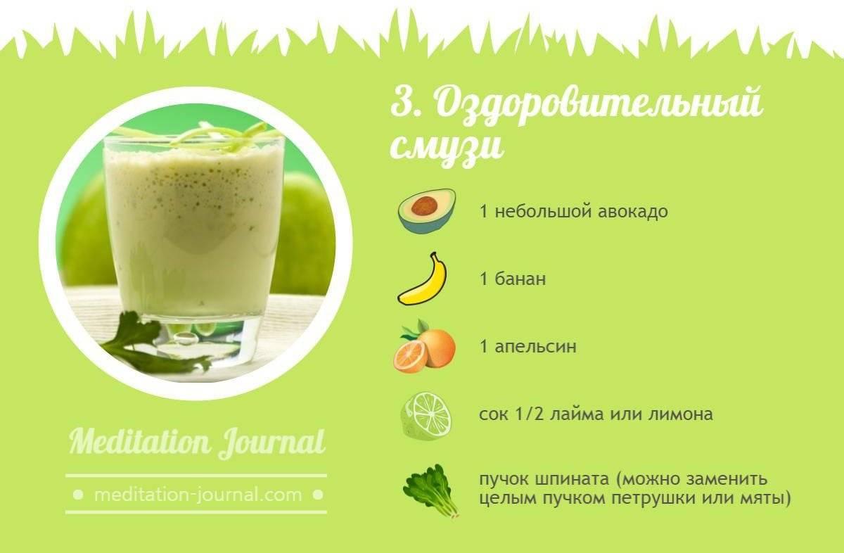 Зеленый смузи: рецепты для блендера, какая нужна зелень