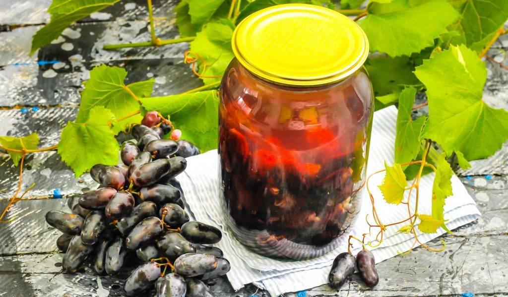 Компот из винограда на зиму пошаговый рецепт