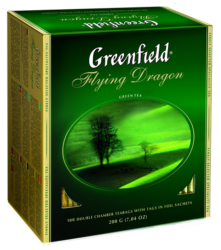 Чай гринфилд зеленый в пакетиках