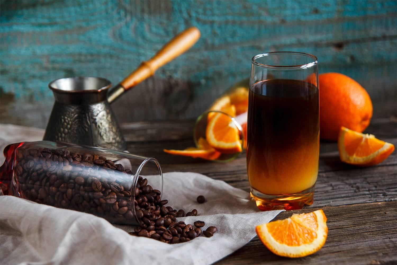 Кофе с апельсином - это кофейный эликсир радости и удовольствия