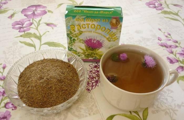 Целебный чай с расторопшей: способы применения