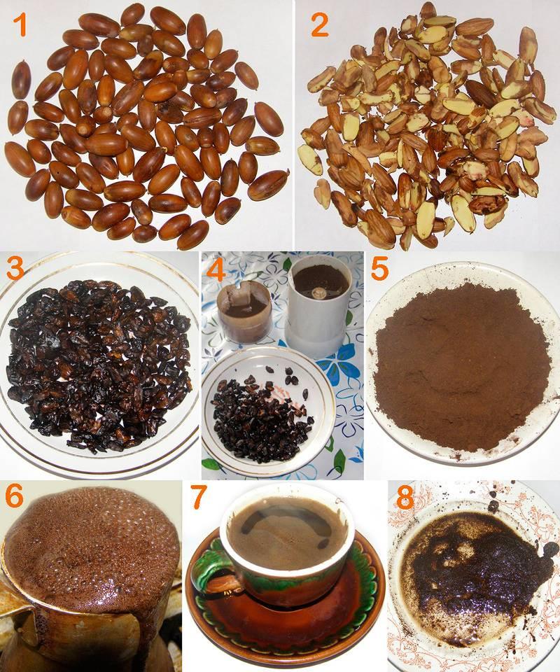 Заменители кофе, кофейные напитки, рецепт желудевого кофе, злаков