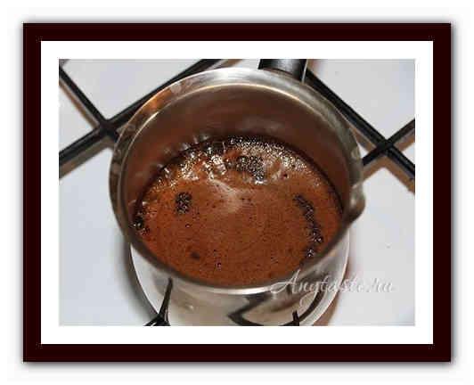 Как сварить кофе в турке с пенкой