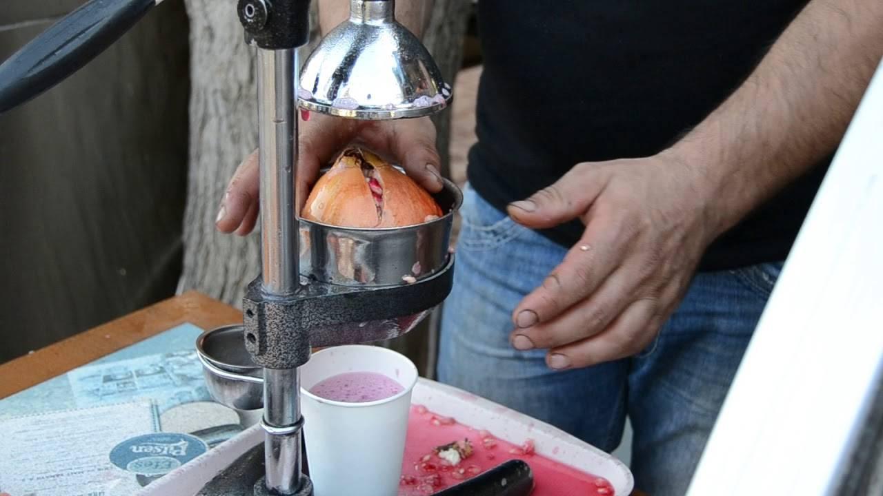 Как выдавить сок из граната в домашних условиях? прессы для гранатов