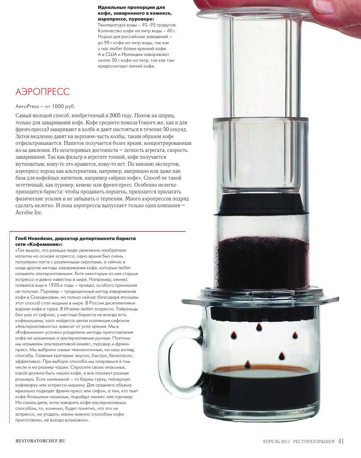Аэропресс для кофе: понятие, как выбрать и пользоваться