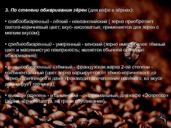 Кофе: названия и виды