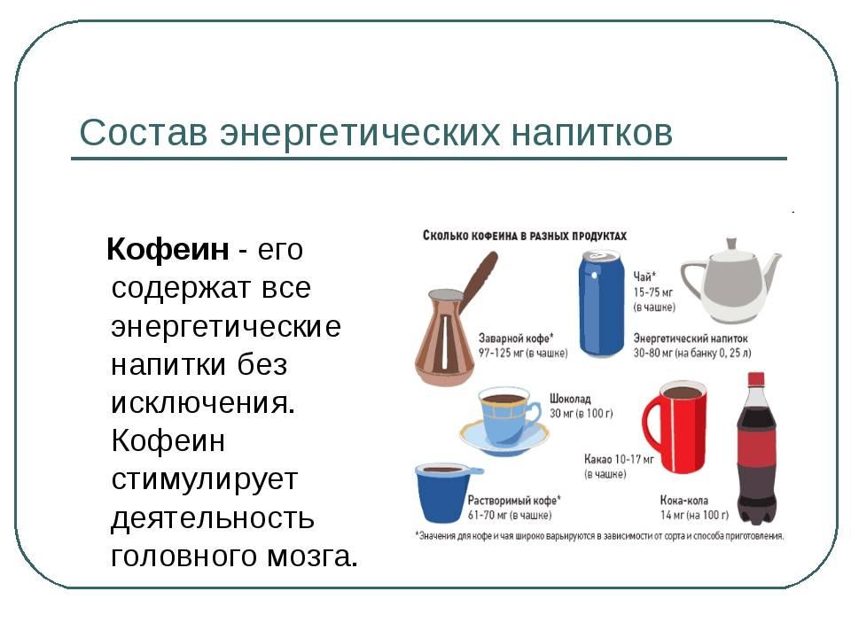 Рецепты энергетических коктейлей на основе кофе с колой