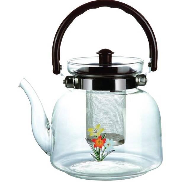 Чайник для заваривания с кнопкой для слива