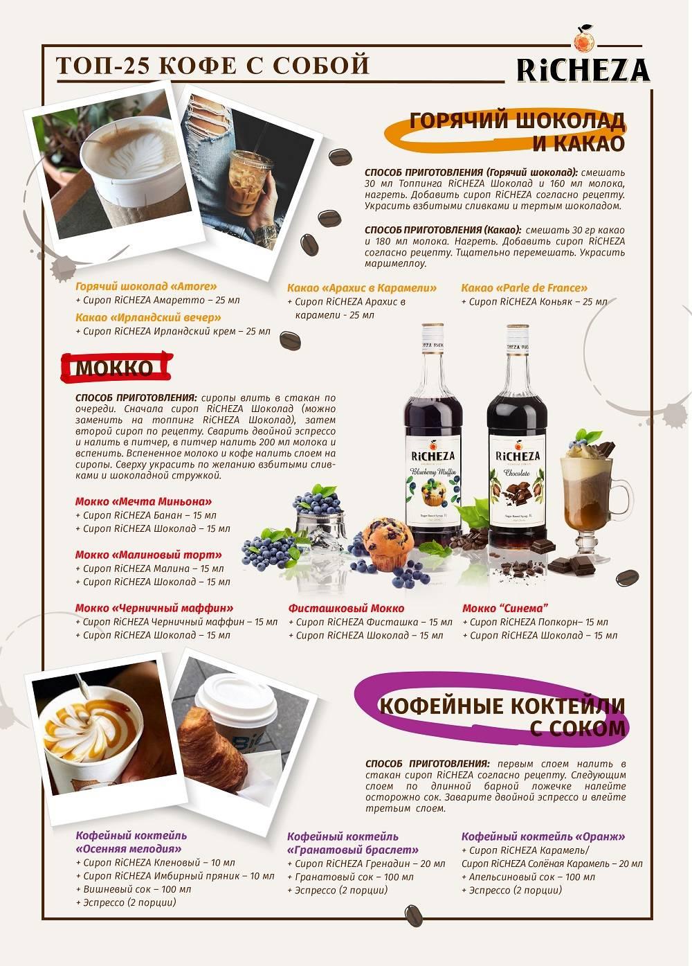 Сиропы для кофе какие лучше, рецепты как приготовить кофе с топпингом