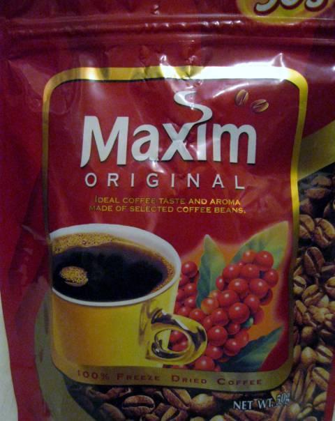 Кофе растворимый сублимированный maxim original - отзывы на i-otzovik.ru