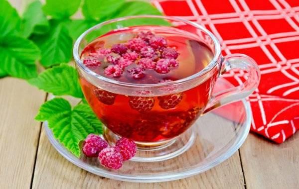 Горячий чай при температуре