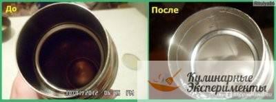 Как очистить термос из нержавейки внутри от чайного налета (7 способов)