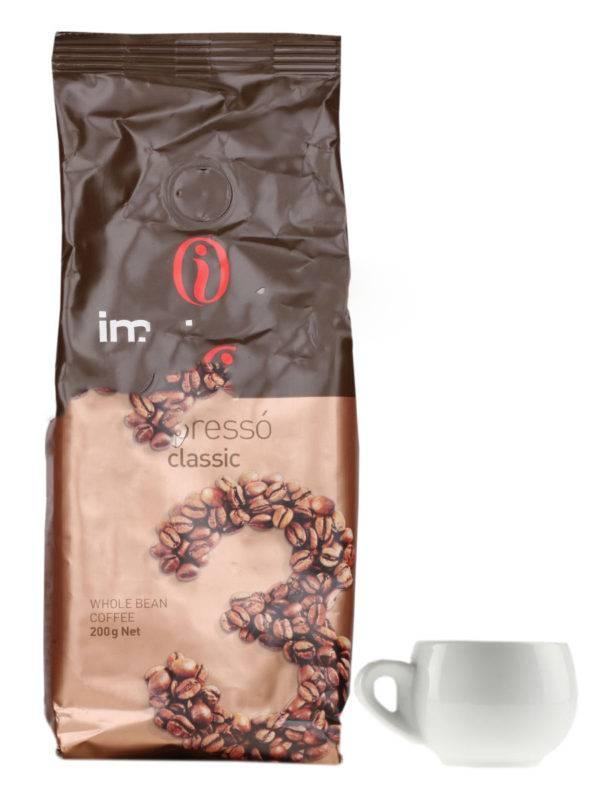 Кофе в зернах impresto espresso classic 200гр — цена, купить в москве