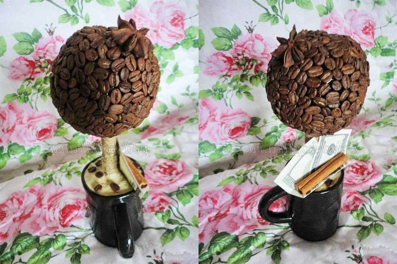 Кофейный топиарий. мастер класс   страна мастеров