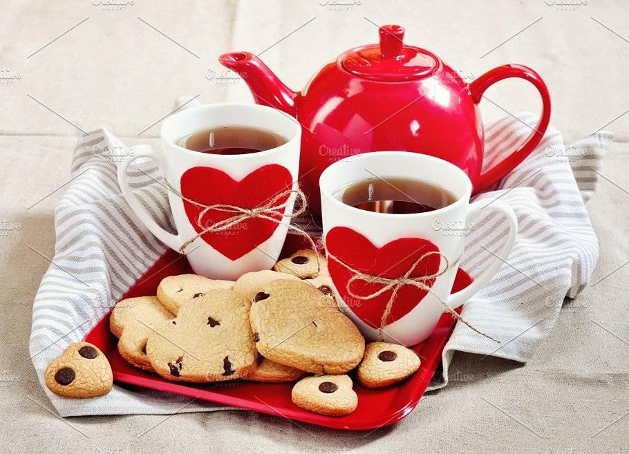 Чай для влюбленных на День святого Валентина: 3 пошаговых мастер класса
