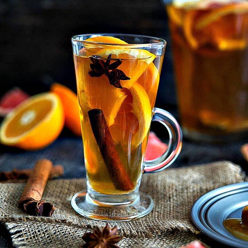 Чай с апельсиновыми корками: рецепт с фото пошагово