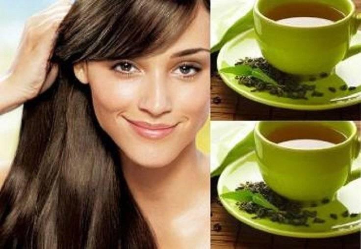 Зеленый чай для волос: польза, маски и как применять