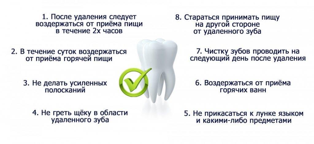 Удаление зуба: через какое время можно есть и пить