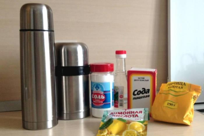 Как отмыть термос от чайного налета внутри