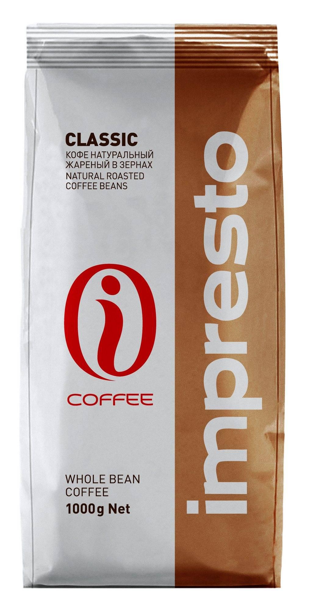 Кофе в зернах impresto roma 1000 гр — цена, купить в москве
