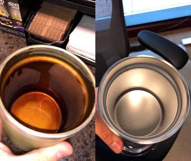 Как почистить термос от чайного налета, запаха внутри: средства и методы чистки