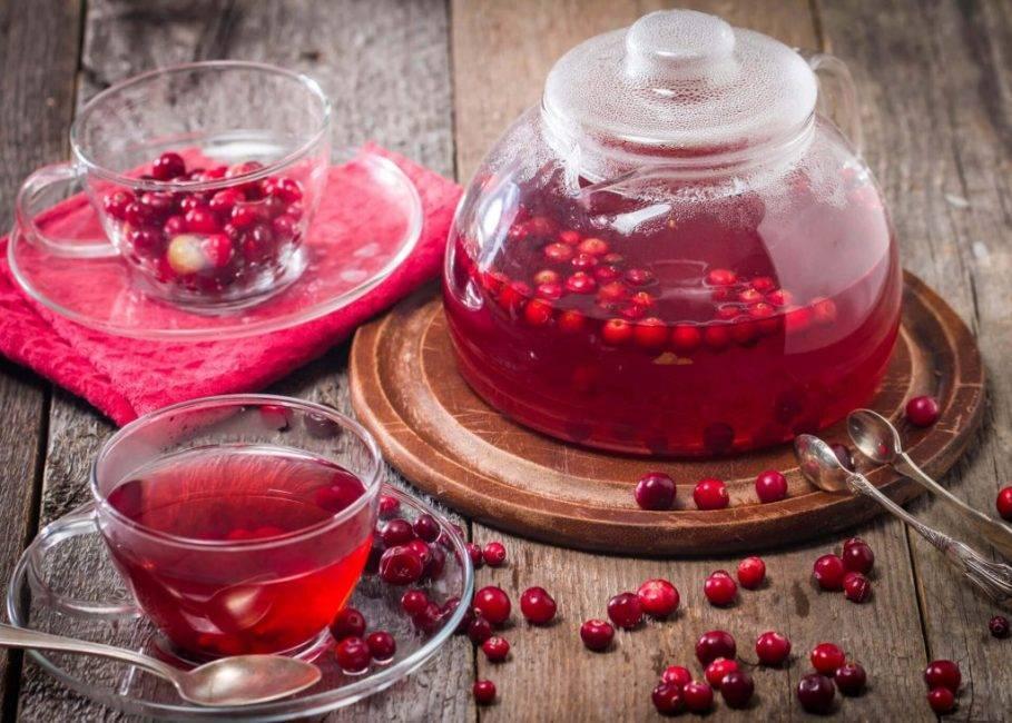 Рецепты чая с клюквой