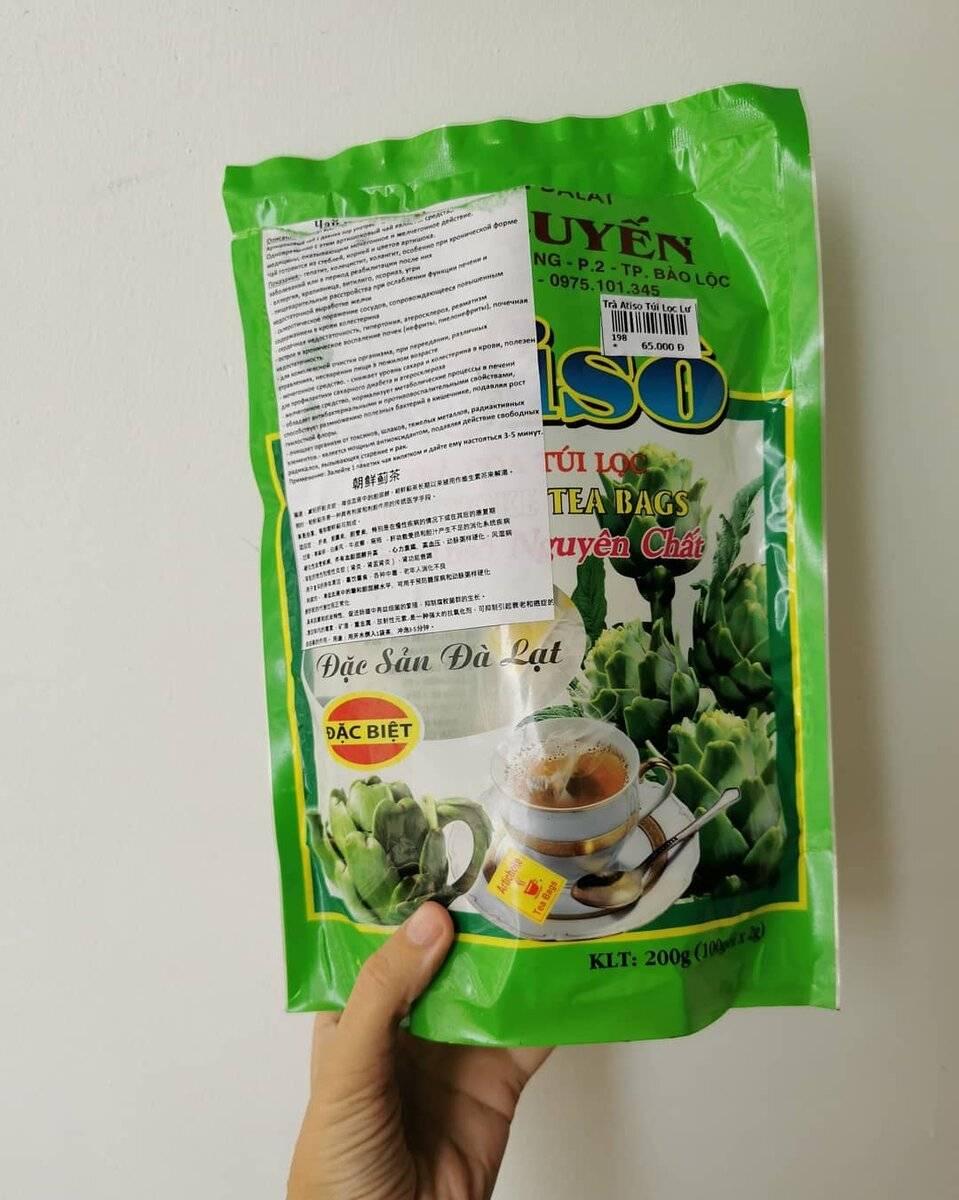Артишоковый чай из вьетнама