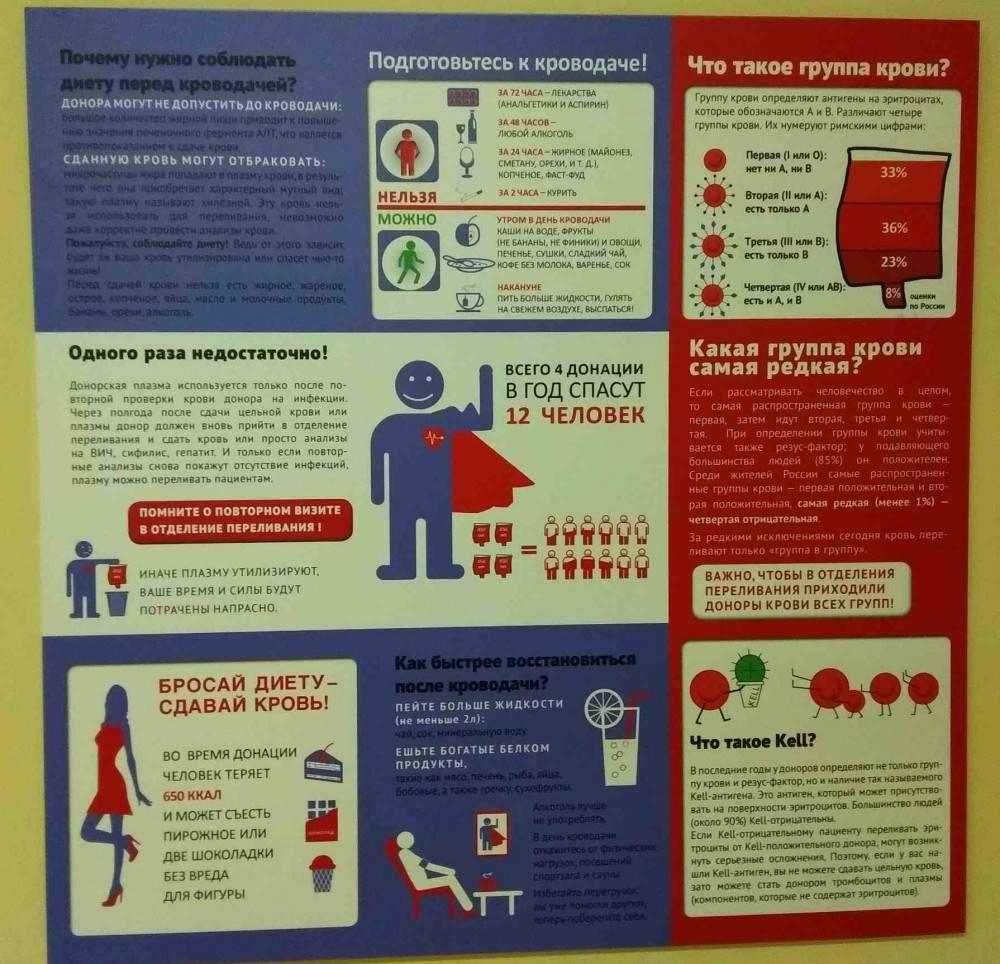 Что можно есть и пить перед сдачей крови на донорство