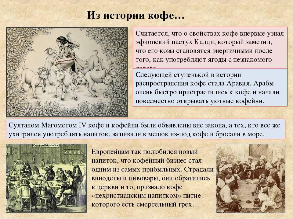 Интересная информация о кофе: факты из истории, традиции