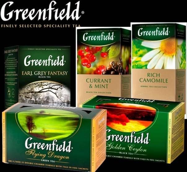 """Чай """"гринфилд"""": ассортимент вкусов, фото"""