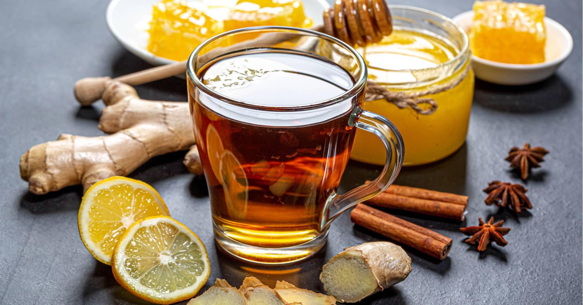 Имбирь для профилактики простуды (чай из корня, напитки для детей)