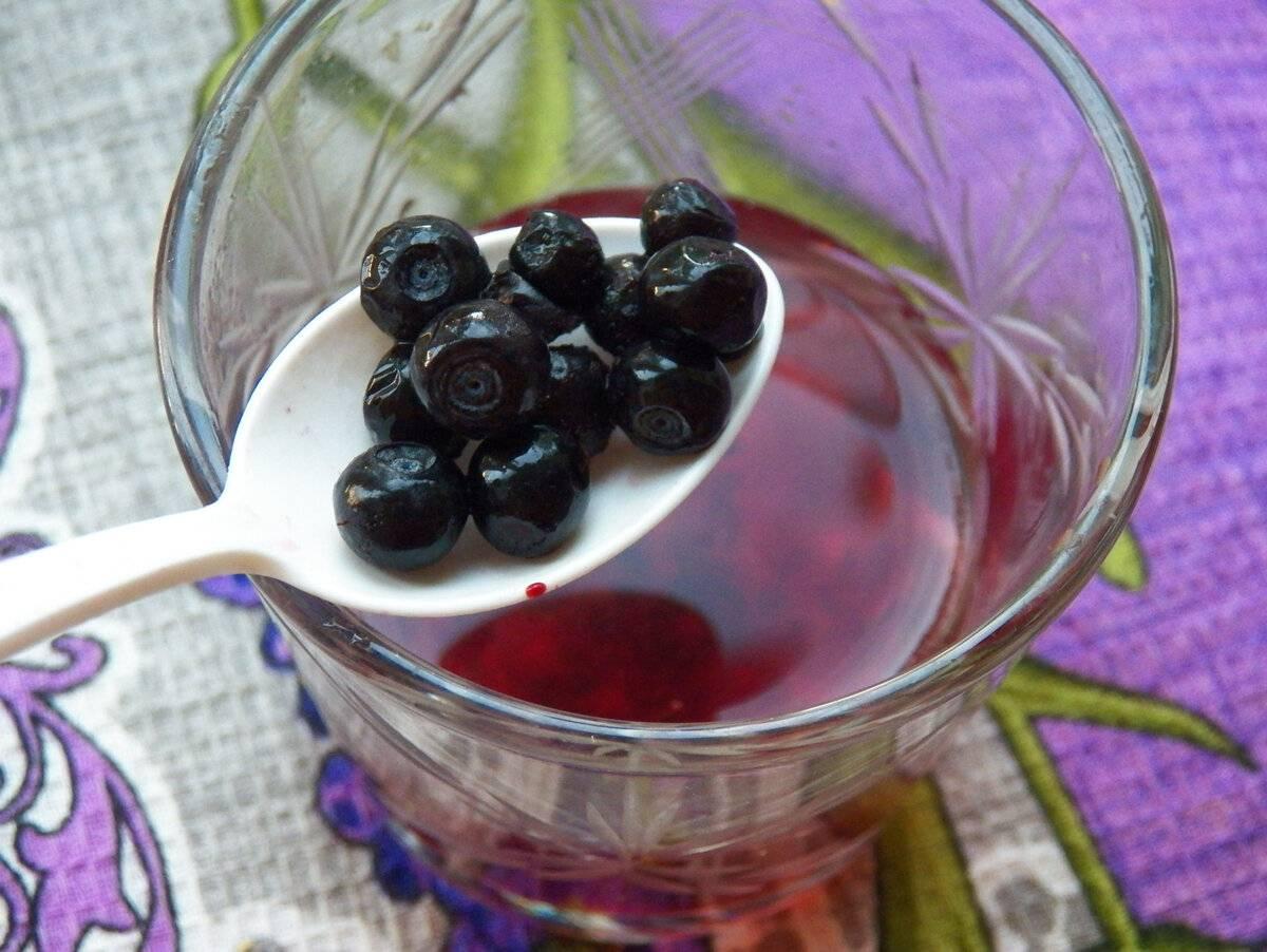 Кисель из замороженных ягод черники