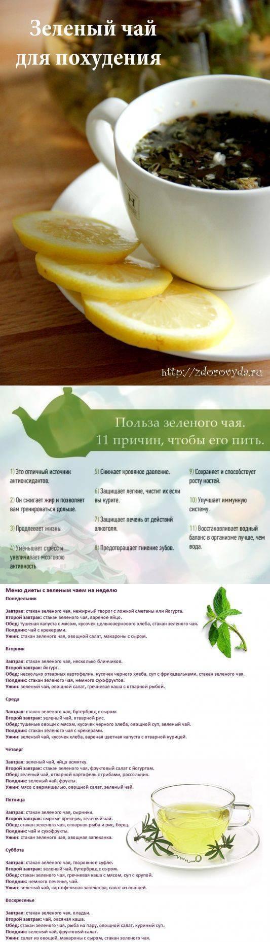 Диета на зеленом чае на 3 дня | похудение тут
