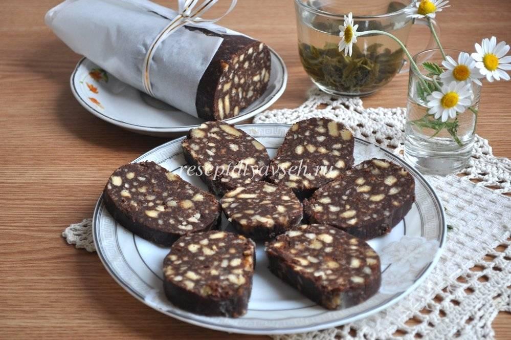 Шоколадная колбаса из печенья со сгущенкой. 3 подробных рецепта