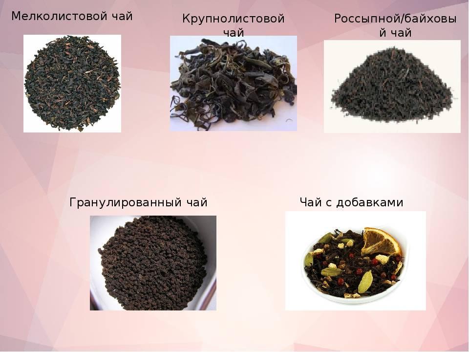 Гранулированный и листовой чай